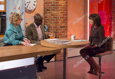 Eleanor Mills and Henry Bonsu with Lorraine Kelly