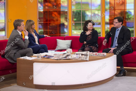 Aled Jones and Kate Garraway with Cathy James and Gary Walker