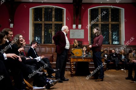 Editorial picture of Immigration debate at the Oxford Union, Oxford University, Britain - 23 Jan 2014