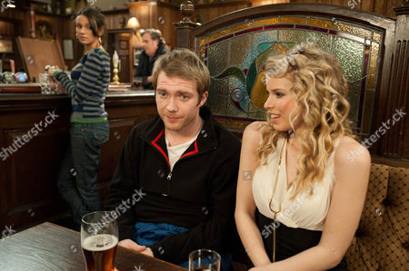 Coronation Street - Ep 7808 Friday 24 February 2012 at 7.30pm Tommy Duckworth [CHRIS FOUNTAIN] is overwhelmed by Jodie's [GINA BRAMHILL] enthusiasm for him but Tina McIntyre [MICHELLE KEEGAN] is enjoying witnessing his discomfort.