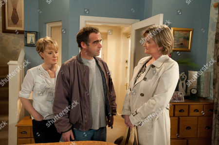 Stock Picture of Coronation Street - Ep 7854 Friday 27th April 2012 at 8.30pm A desperate man Kevin Webster [MICHAEL LE VELL] calls Pam Hobsworth [KATE ANTHONY] round, asking her to take Jack for him, for good. Pam's aghast as Kevin insists he'd visit all the time but he can't have a future with Sally while Jack lives with him. Kevin's broken as he pleads with her to agree. Disgusted will Pam accept and how will Sally react when she discovers the lengths Kevin is prepared to go to for her?