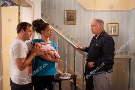 Coronation Street - Ep 7963 Wednesday 26 September 2012 at 8.30pmKirsty Soames' [NATALIE GUMEDE] mum Alison [DAWN HOPE] turns up out of the blue. She's plucked up the courage to go behind husband Ed's back to see her granddaughter for the first time. Kirsty panics when she sees her worried her Dad might rock up. Alison tells her she's left him and she's living in a refuge. Tyrone Dobbs [ALAN HALSALL] insists she stays with them as he thinks it will help sort Kirsty out. Kirsty reckons it's a bad idea as her Dad will come looking for her. Later as Alison settles in and there's a furious banging on the door, it looks like Kirsty was right to be worried, Ed [DAVID LONSDALE] has arrived.
