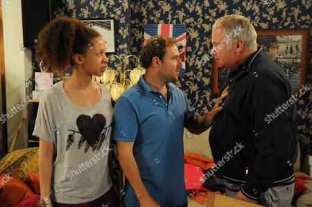 Coronation Street - Ep 7965 Friday 28 September 2012 at 8.30pm Kirsty Soames [NATALIE GUMEDE] is horrified that Ruby's disappeared from her pram and runs out onto the Street where their neighbours join in with her and Tyrone Dobbs' [ALAN HALSALL] mounting concerns. Alison [DAWN HOPE] suggest they go back into No 9 (and call the police. When they do they find Ed [DAVID LONSDALE)standing there cradling Ruby. As Tyrone takes his daughter Ed suggests now he knows what its like having your family taken off you. He tells Alison she's coming home with him. Alison goes to pack but Kirsty won't have it. She rails at Ed for being a tyrant and a bully and he bites back. After her parents leave Kirsty still rages. Will Tyrone yet again bear the brunt of her fury?