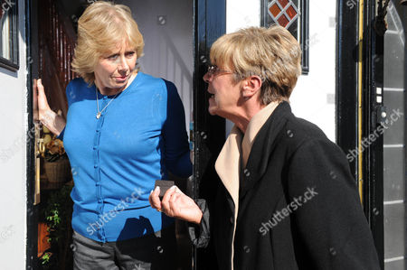 Coronation Street - 7972 Monday 8 October 2012 at 8.30pm Wendy Papadopoulus [ROBERTA KERR] is taken aback when Deirdre Barlow [ANNE KIRKBRIDE] lands on her doorstep and tells her to back off.