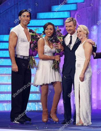 Zaraah Abrahams and Andy Buchanan are voted off, accompanied by Jayne Torvill and Christopher Dean