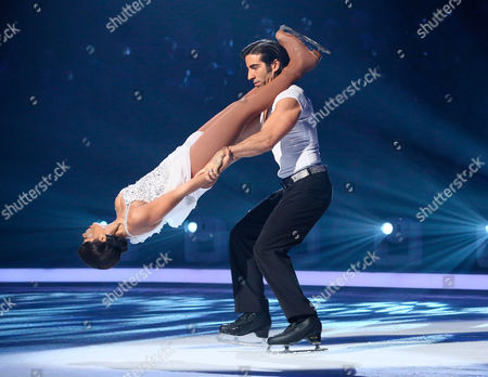 Zaraah Abrahams and Andy Buchanan during the skate off