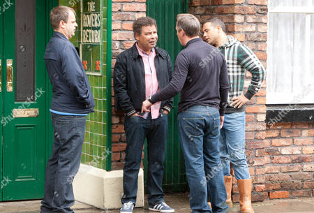Coronation Street - Ep 8180 Monday 29 July 2013 - 2nd Ep Believing Lloyd Mullaney [CRAIG CHARLES] made the complaint to his boss Paul Kershaw [TONY HIRST] storms into the pub and confronts a clueless Lloyd. As Karl Munroe [JOHN MICHIE] bundles the men outside, Paul punches Lloyd just as the police arrive. As they grab Paul, Jenna Kamara [KRISSI BOHN] reveals it was Sophie who made the call.