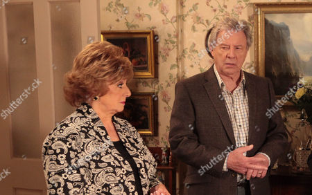 Coronation Street - Ep 8240 Monday 21October 2013 - 2nd Ep After Tracy purposefully lets slip to Rita Tanner [BARBARA KNOX] just where her ring has been for the last few days and she's not happy with Dennis Tanner [PHILIP LOWRIE]. P