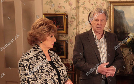 Coronation Street - Ep 8240 Monday 21October 2013 - 2nd Ep After Tracy purposefully lets slip to Rita Tanner [BARBARA KNOX] just where her ring has been for the last few days and she's not happy with Dennis Tanner [PHILIP LOWRIE].