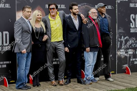 Monika Bacardi, Stephen Baldwin, director Alessandro Capone, Michael Madsen, Danny Glover and Andrea Iervolino