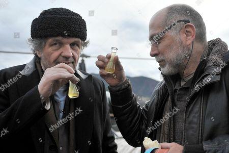 Guillermo Arriaga and Professor Emir Kusturica