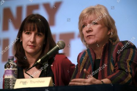 Stock Image of Rachel Reeves M.P. and Polly Toynbee