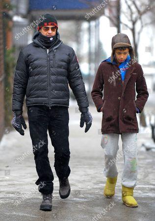 Hugh Jackman and Oscar Jackman