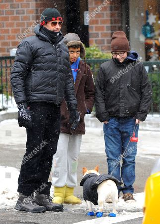 Editorial photo of Hugh Jackman out and about in New York, America - 25 Jan 2014
