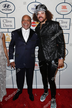 Berry Gordy and son Stefan Kendal Gordy (Redfoo)