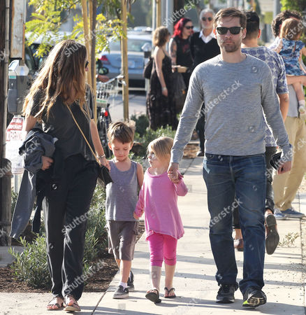 Jennifer Meyer, Otis Maguire, Ruby Maguire and Tobey Maguire