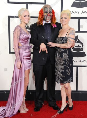 Slipknot - Shawn Crahan with wife Chantel Crahan and daughter Gabrielle