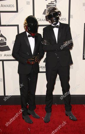 Stock Image of Daft Punk - Thomas Bangalter and Guy-Manuel de Homem-Christo