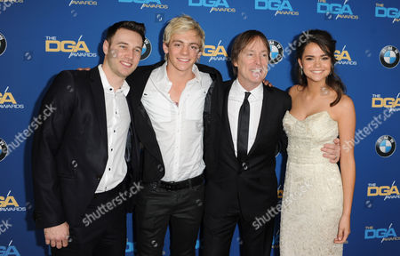 Christopher Scott, Ross Lynch, Jeffrey Hornaday and Maia Mitchell