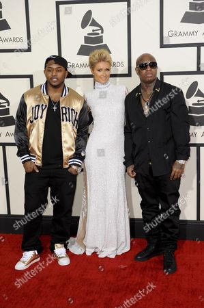 Paris Hilton, Mack Maine and Birdman