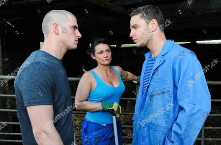 Emmerdale - Ep 6341 Wednesday 12 September 2012 at 7pm Alex Moss [KURTIS STACEY] tells Moira Barton [NATALIE J ROBB] he is leaving the farm. Adam Barton [ADAM THOMAS] is smug but Moira is angry with him saying what he did with Ella was far worse than what she has done.