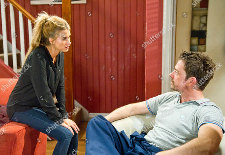 Emmerdale - Ep 6662 Thursday 19 September 2013 - 2nd Ep Debbie Dingle [CHARLEY WEBB] reveals she knows Cameron Murray [DOMINIC POWER] killed Gennie and shows him the dictaphone.