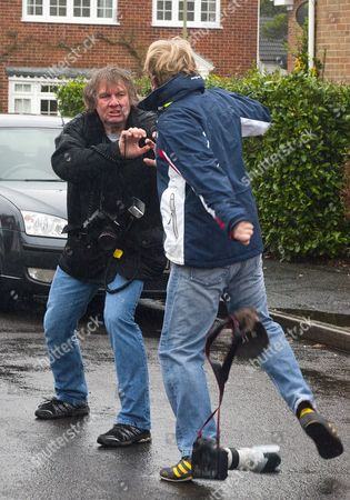 Stock Image of Photographer Steve Reigate is attacked by Dean Hancock