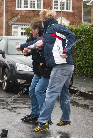 Stock Picture of Photographer Steve Reigate is attacked by Dean Hancock