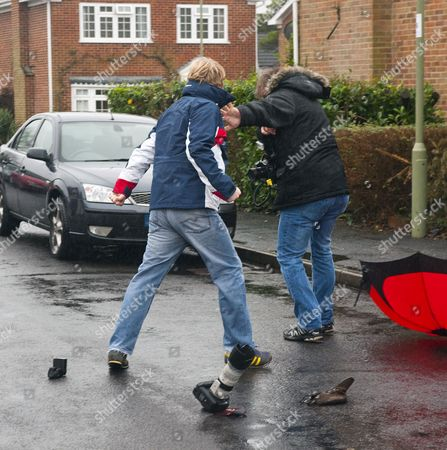 Editorial photo of Son of Liberal Democrat MP charged with assaulting a photographer, Portchester, Hampshire, Britain - 23 Jan 2014