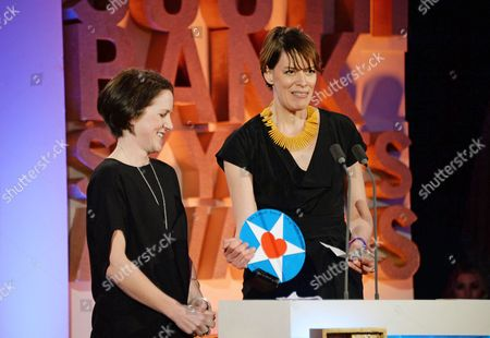 Tracy O'Riordan (Producer) and Clio Barnard (Writer/Director of The Selfish Giant - winner of Film)