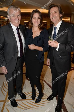 Stock Photo of Lord Matthew Evans, Tracey Emin and Melvyn Bragg
