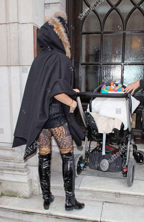 Katie Price and baby son Jett with son Jett Riviera