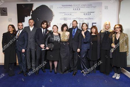 Guests, Tom Burke, Joanna Scanlan, Felicity Jones, Ralph Fiennes and Kristin Scott Thomas, Abi Morgan, Carolyn Marks Blackwood and Claire Tomalin