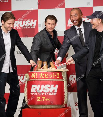 Editorial image of 'Rush' film press conference, Tokyo, Japan - 28 Jan 2014