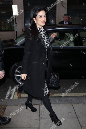 Editorial image of Princess Badiya bint El Hassan at BBC Radio 2 Studios, London, Britain - 28 Jan 2014