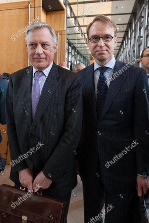 Bank de France Governor Christian Noyer and President of the Deutsche Bundesbank (German Central Bank) Jens Weidmann