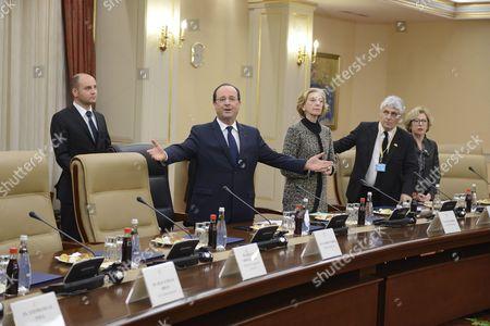 Editorial picture of Francois Hollande and Recep Tayyip Erdogan meeting, Ankara, Turkey - 27 Jan 2014