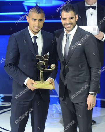 Stock Image of Arturo Vidal and Simone Perrotta