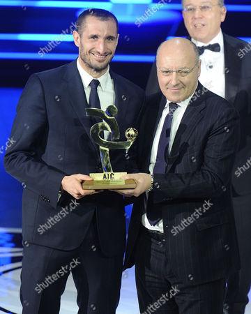 Stock Image of Giorgio Chiellini and Beppe Marotta