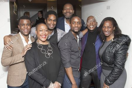 Ashley Zhangazha, Paulette Randall, Ako Mitchell, Lenny Henry, Peter Bankole, Colin McFarlane and Tanya Moodie