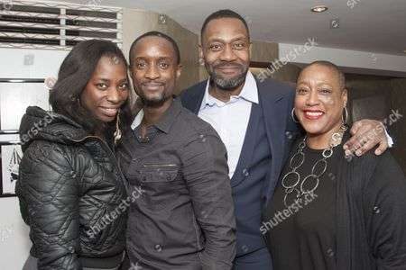Tanya Moodie, Peter Bankole, Lenny Henry and Paulette Randall