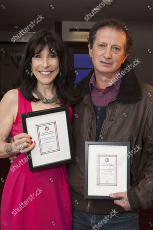 Catherine Schreiber and David Lan with The Peter Hepple Award for Best Musical, for The Scottsboro Boys