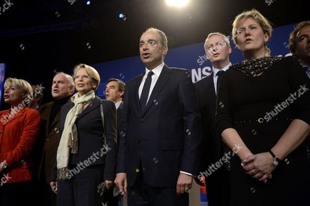 Michele Alliot-Marie, Francois Fillon, Jean-Francois Cope, Bruno Le Maire and Nadine Morano