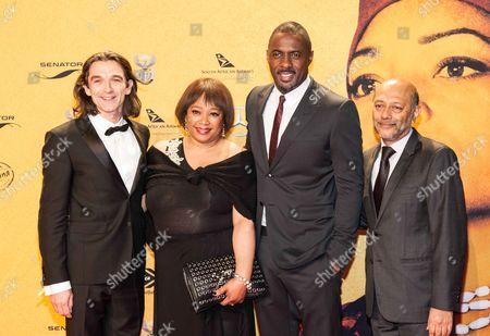 Justin Chadwick, Zindzi Mandela, Idris Elba and Anant Singh