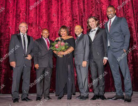 Zindzi Mandela, Anant Singh, Justin Chadwick and Idris Elba