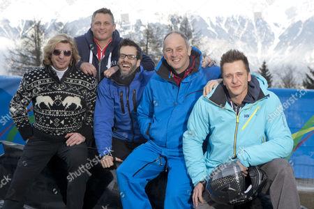 Nicky Clarke, Darren Gough, Marcus Brigstocke, Steve Redgrave and Ritchie Neville