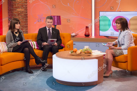 Esther Addley and Andrew Pierce with Lorraine Kelly