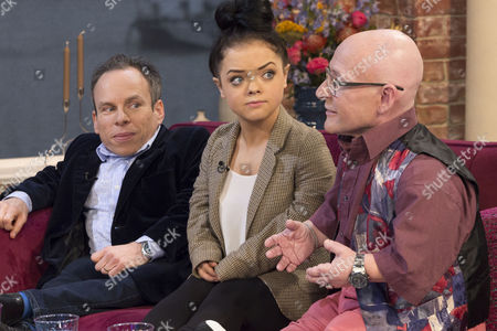 Warwick Davis, Francesca Mills and Jon Key.
