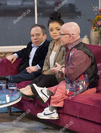 Stock Photo of Warwick Davis, Francesca Mills and Jon Key.