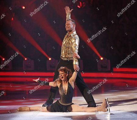 Bonnie Langford and Andrei Lipanov during the skate off